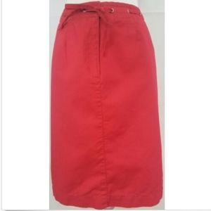 Talbots Woman Petites Women's Pencil Skirt 16W red